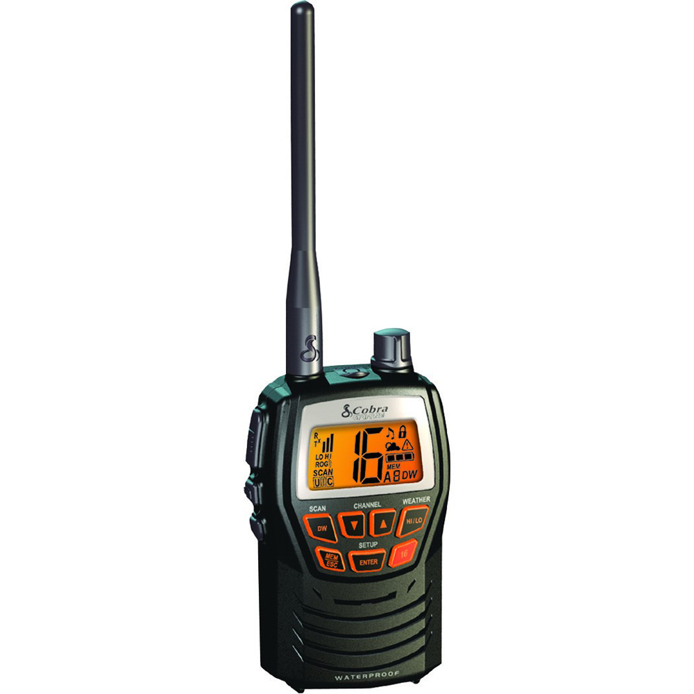 Cobra MR HH125 3W Handheld VHF Radio - MR HH125