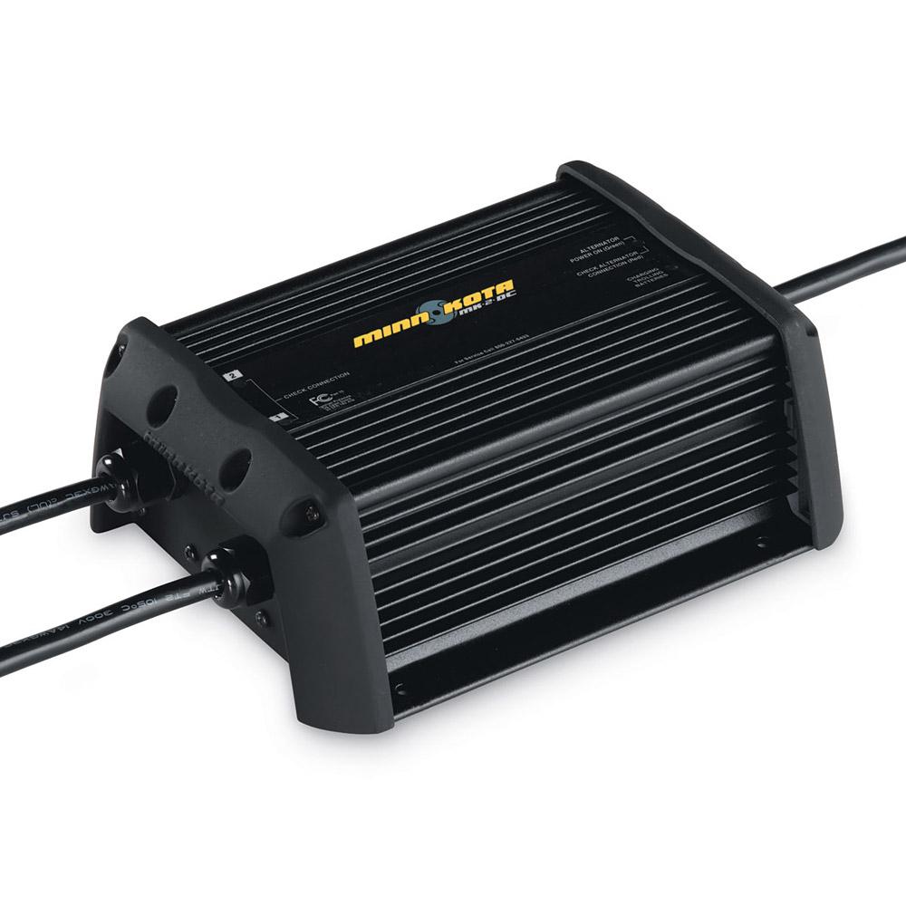 Marine Battery Charger And Monitor : Minn kota mk dc alternator dual bank amp marine v