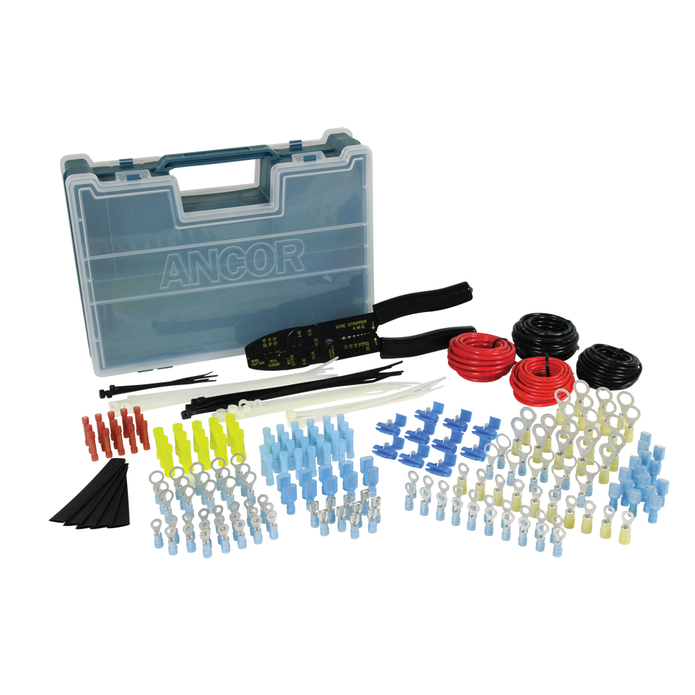 Ancor 225 Piece Electrical Repair Kit w/Strip & Crimp Tool CD-31834