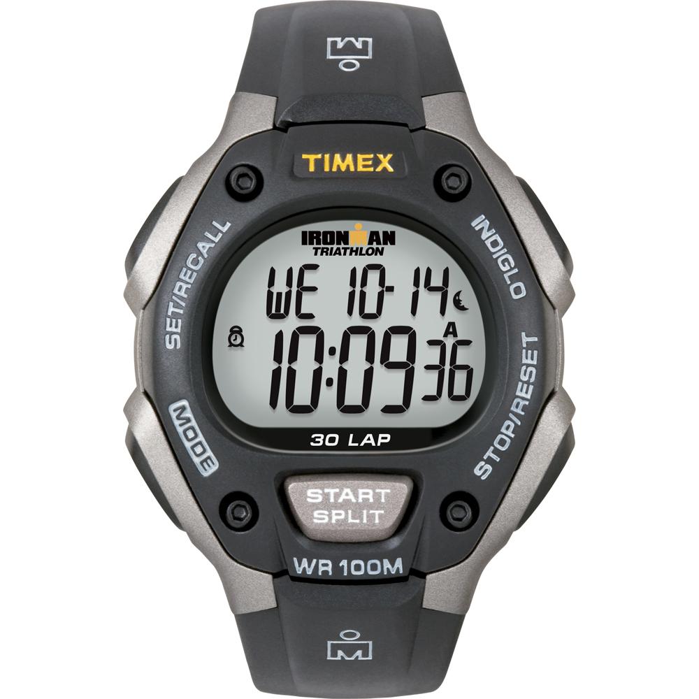 Timex Ironman Triathlon 30 Lap Grey/Black - T5E901