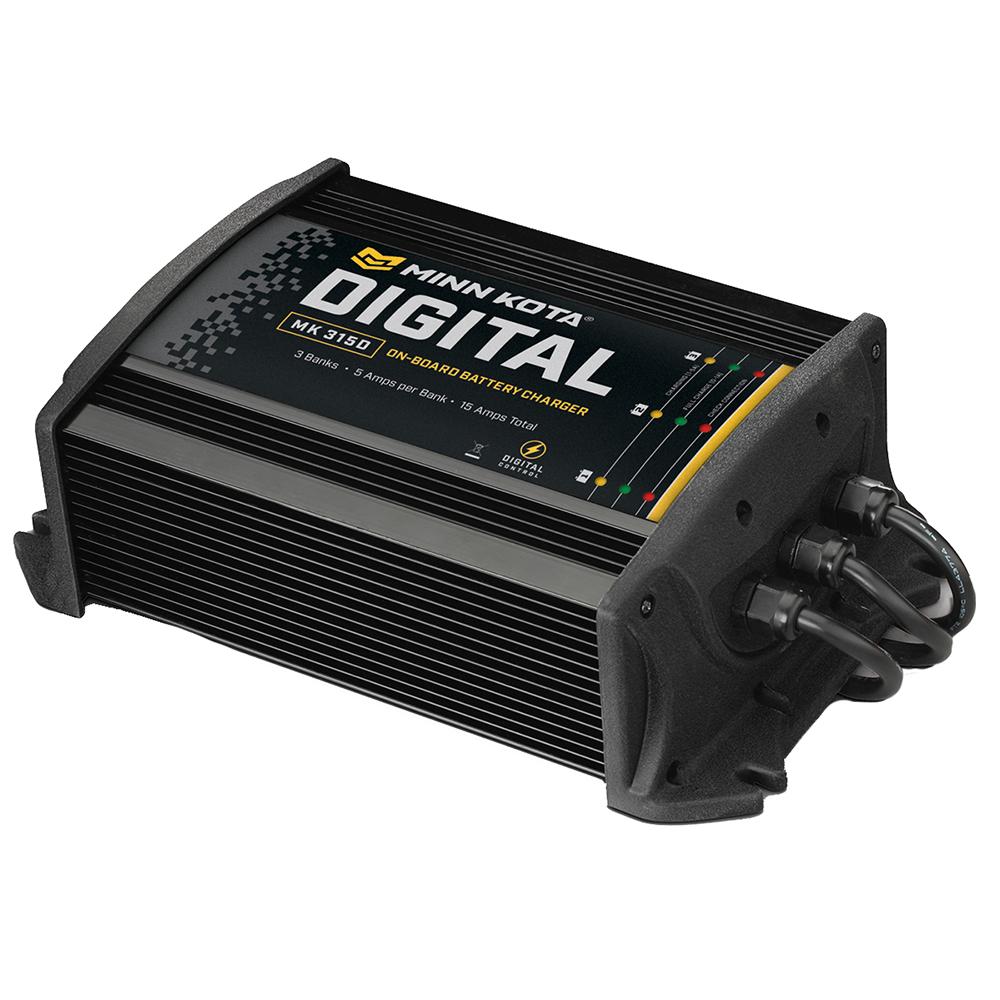 Marine Battery Charger And Monitor : Minn kota mk d on board v marine boat battery charger