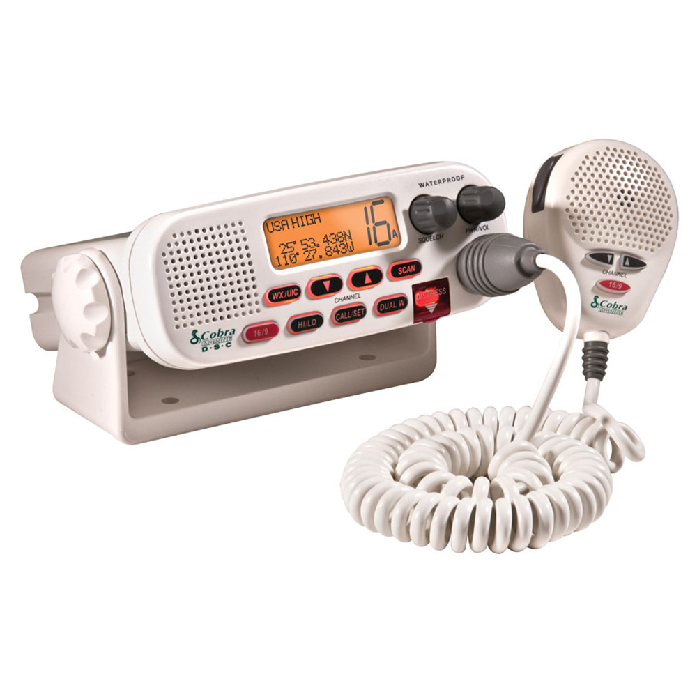 Cobra MR45-D Fixed Mount Class D Submersible VHF Radio - White - MR F45-D