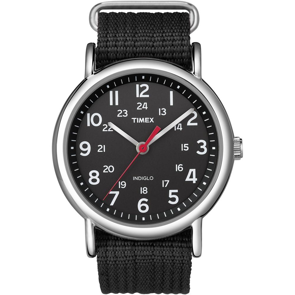 Timex Weekender Slip-Thru Watch - Black/Black - T2N647