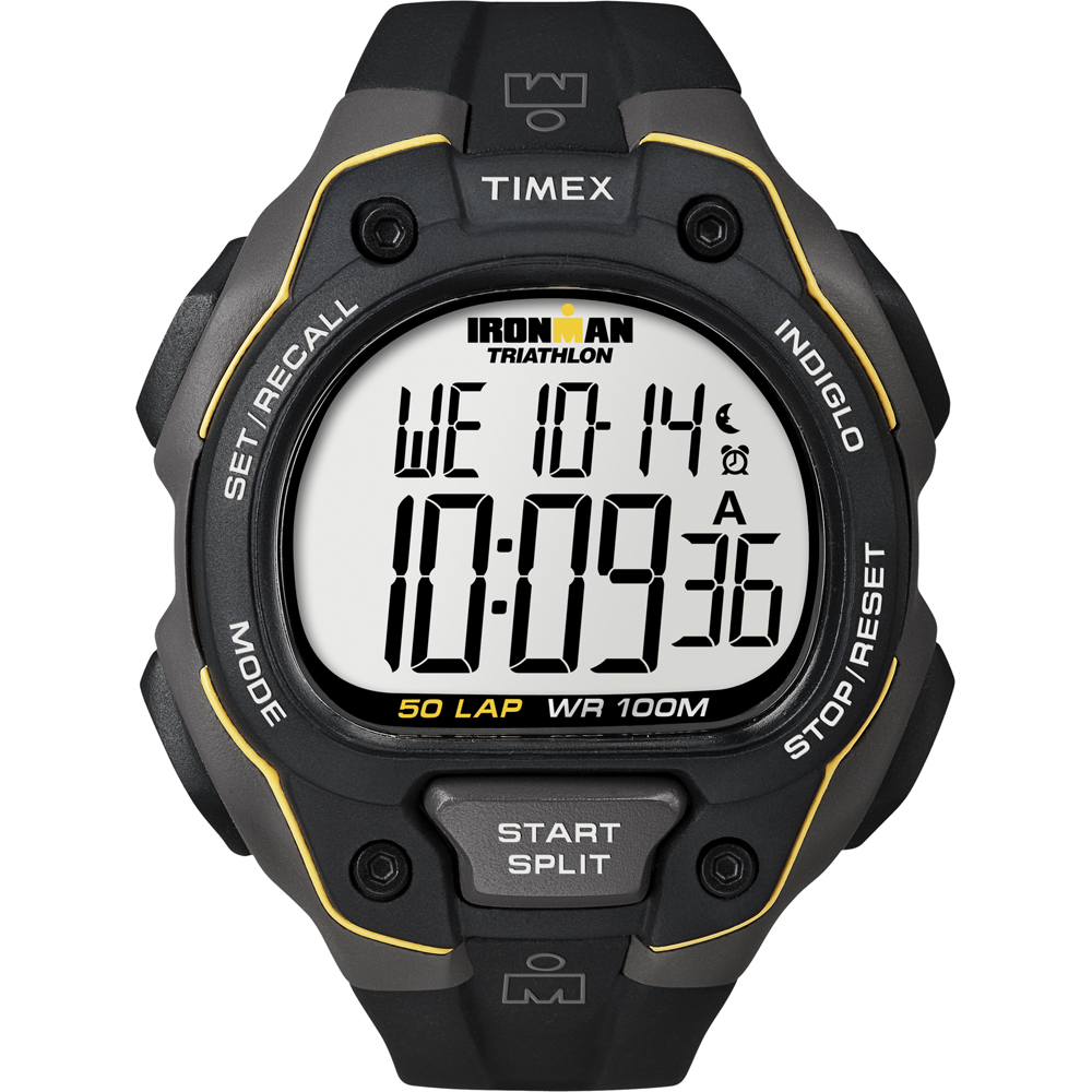 b6a6ac0139d0 Details about Timex Ironman 50 Lap Watch - Black Yellow