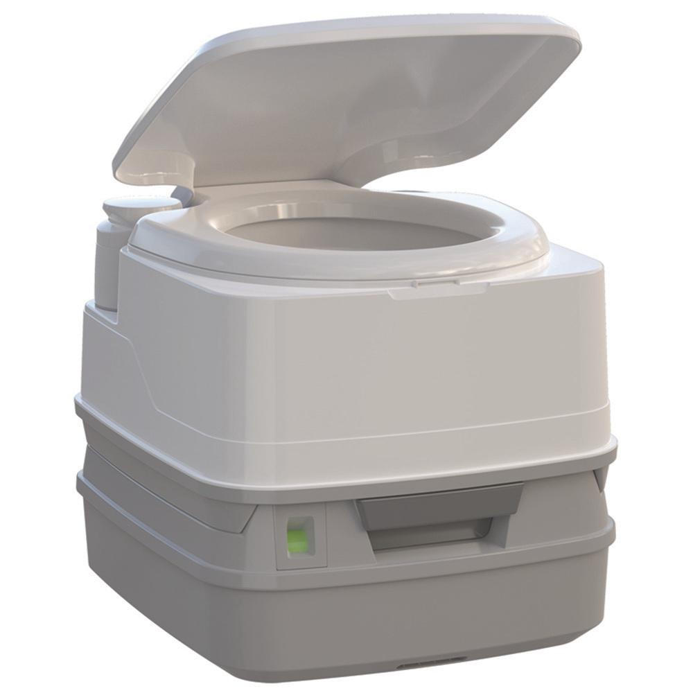 Thetford Porta Potti 260P MSD Marine Toilet with Piston Pump, Level Indicator, and Hold-Down Kit - 92868