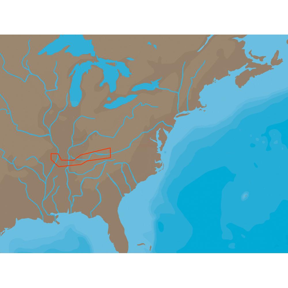 C-MAP NT+ NA-C046 - Cumberland River - C-Card - NA-C046C-CARD