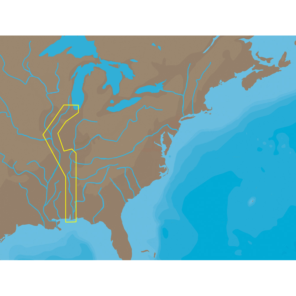 C-MAP NT+ NA-C047 - Inland Circle Route: Chicago to Mobile - C-Card - NA-C047C-CARD