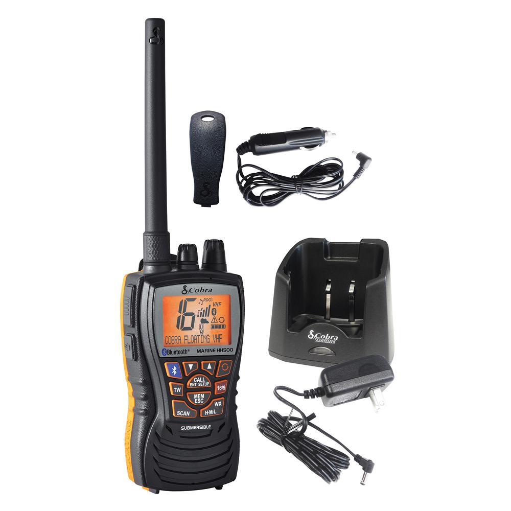 Cobra MR HH500 FLT BT Floating 6W VHF Radio with Bluetooth - MR HH500 FLT BT