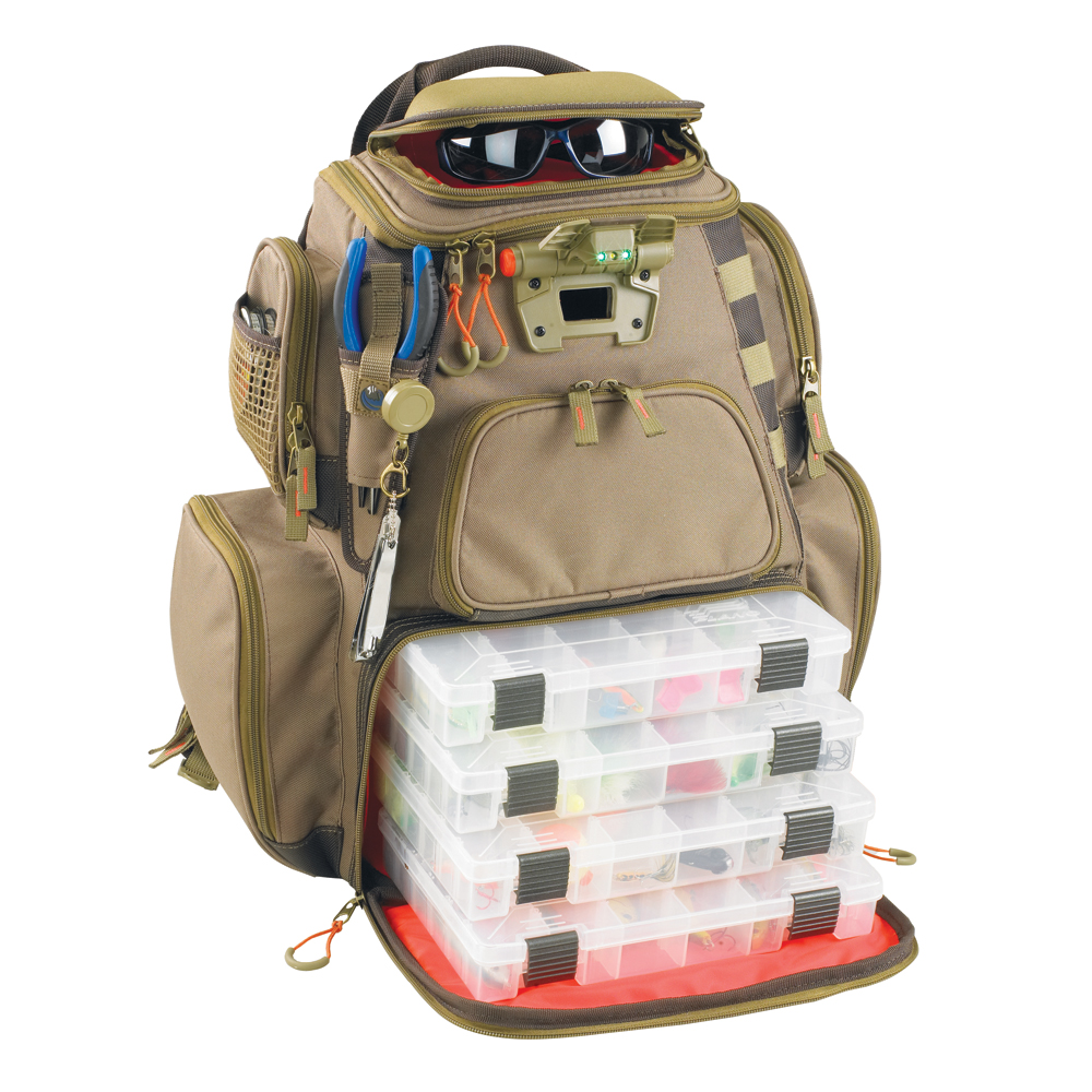 Wild River NOMAD Lighted Tackle Backpack with 4 PT3600 Trays - WT3604