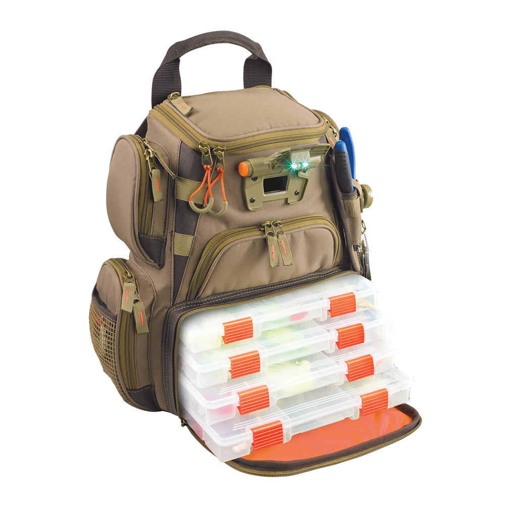 Wild River RECON Lighted Compact Tackle Backpack with 4 PT3500 Trays - WT3503