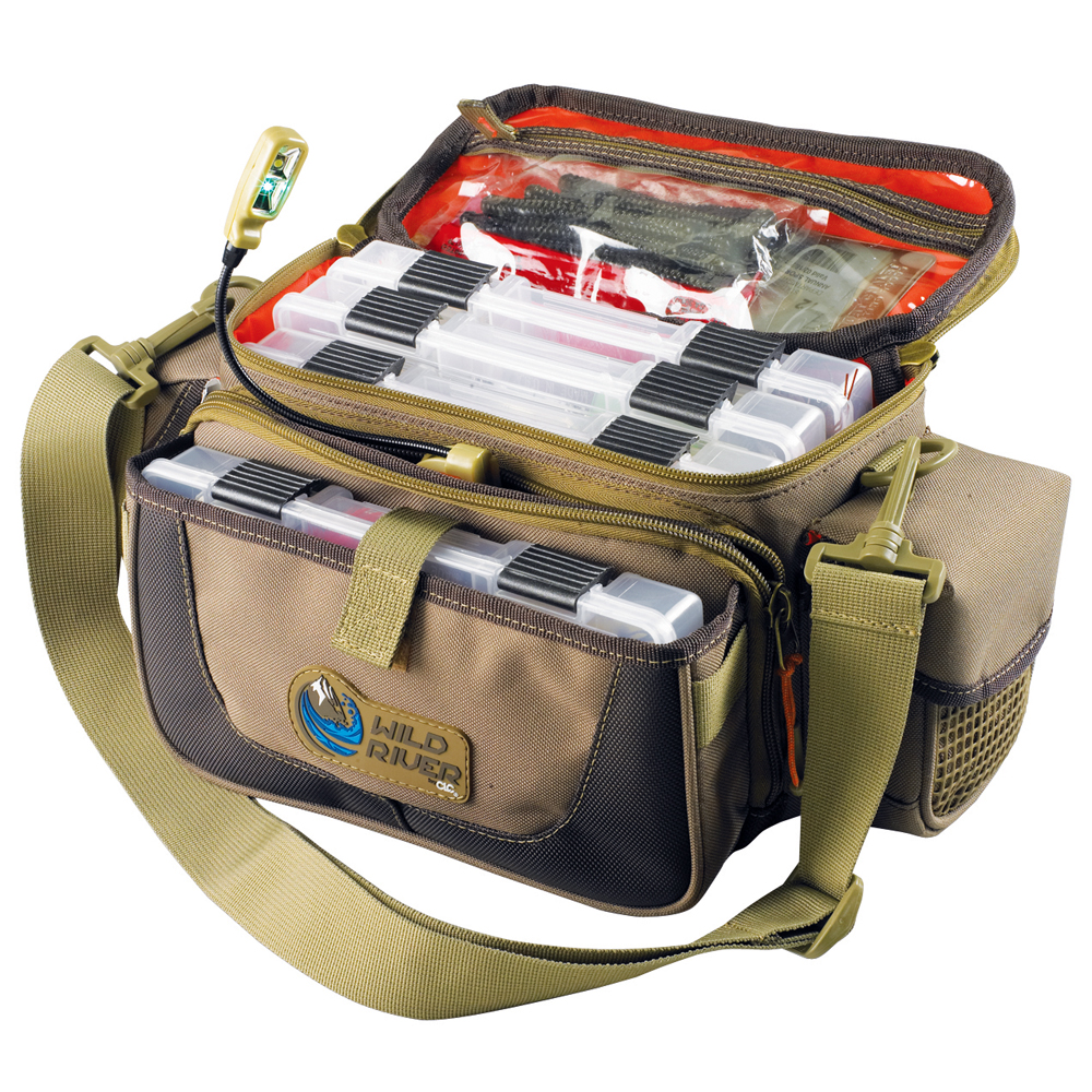 Wild River MISSION Lighted Small Convertible Tackle Bag with 4 PT3500 Trays - WT3505