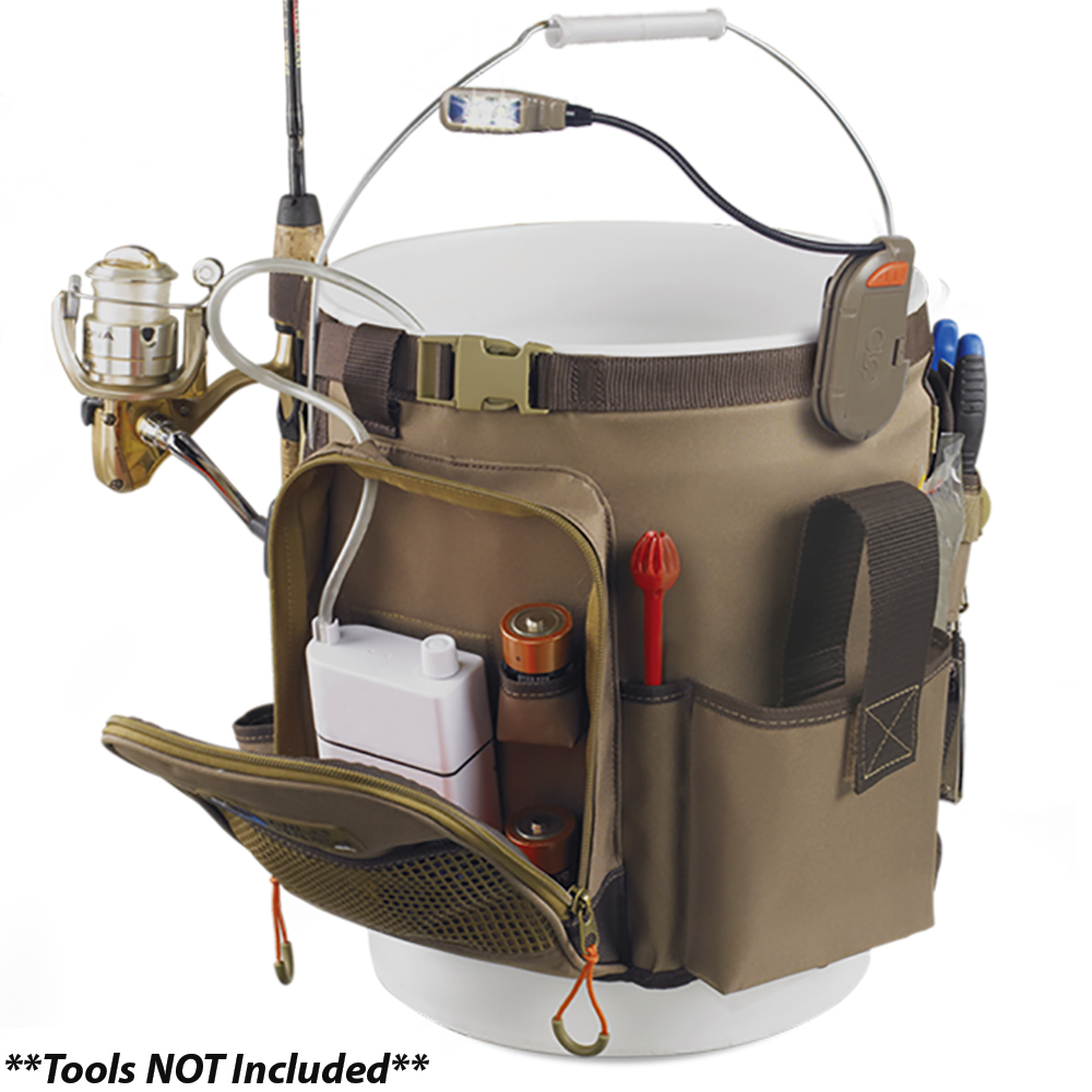 Wild River RIGGER 5 Gallon Bucket Organizer with Light, Plier Holder & Retractable Lanyard - WL3506