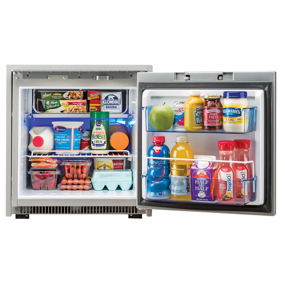 Norcold 2.7 Cubic Feet AC/DC Marine Refrigerator - Stainless Steel - NR751SS