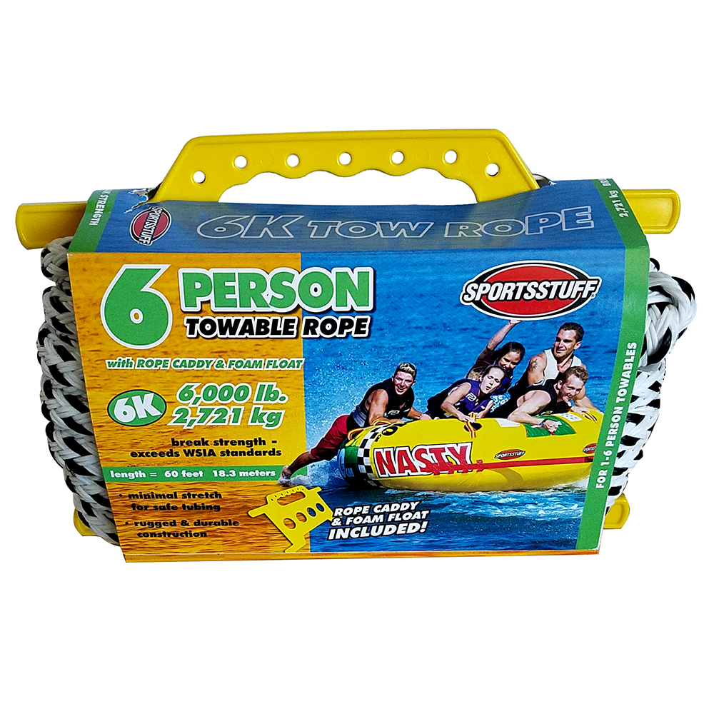SportsStuff 6K Tow Rope - 6-Person - 60' - 57-1542