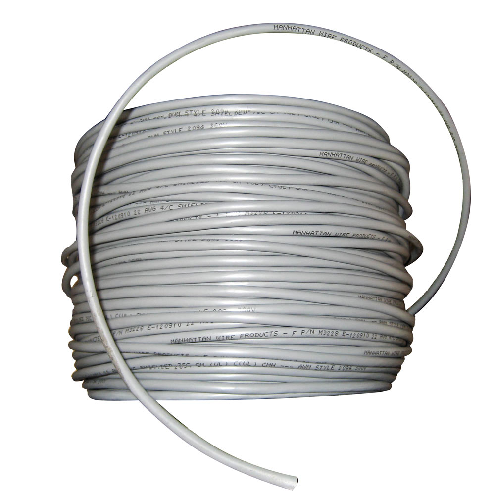 Cobra Wire 22/4 Shielded Comm Cable - NMEA 0183 - 500' - Grey - X-079330-007