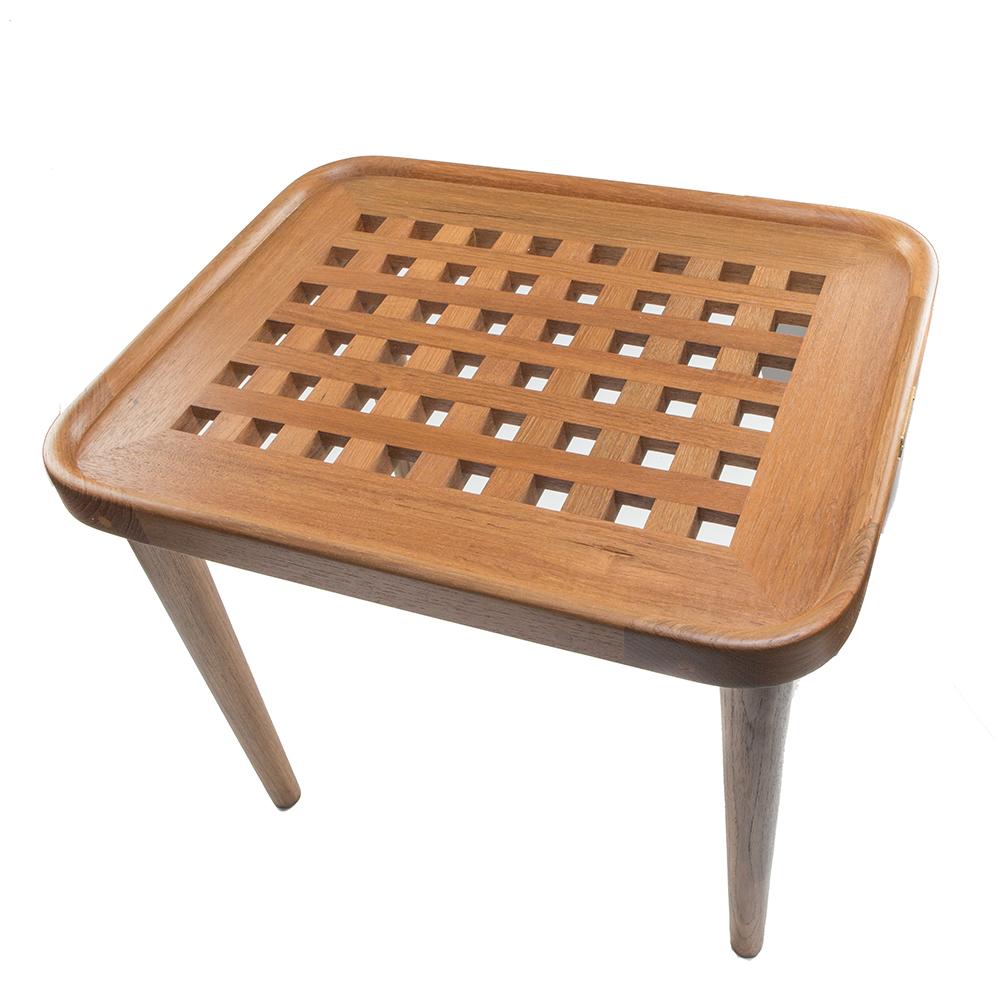 Grate Teak Coffee Table: Whitecap Teak Cockpit Grate End Table - 60020
