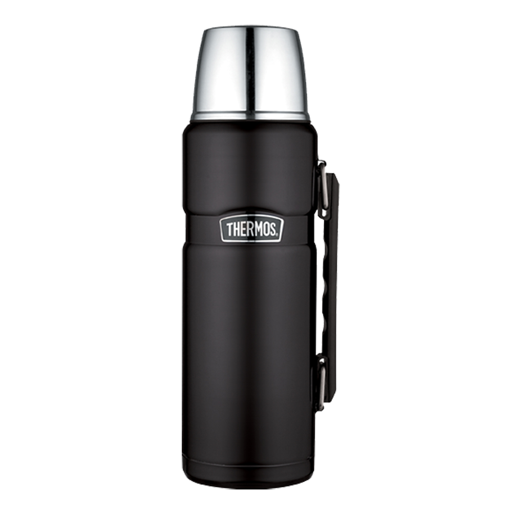 Thermos Stainless King Vacuum Insulated Beverage Bottle - 1.2L - Stainless Steel/Matte Black - SK2010BKTRI4