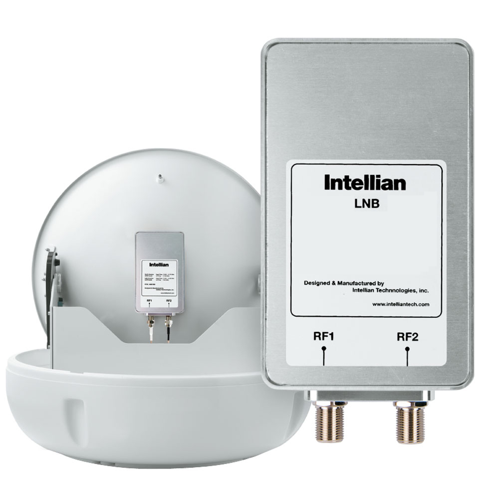 Intellian North American LNB (11.25GHz, 2 Ports) for Use with DIRECTV, DISH Network & Bell - S2-0808