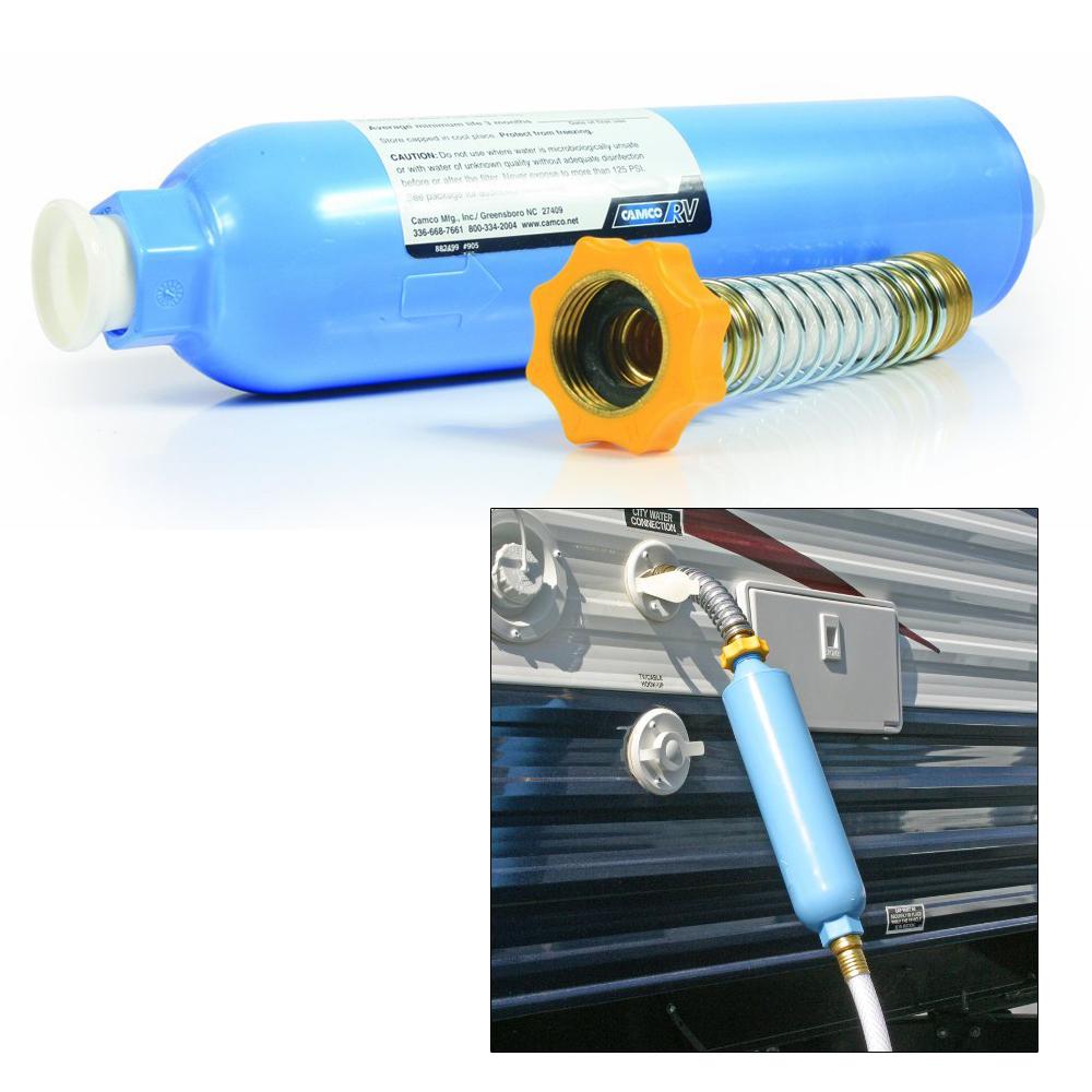 Camco Tastepure Kdf Carbon Water Filter W Flexible Hose