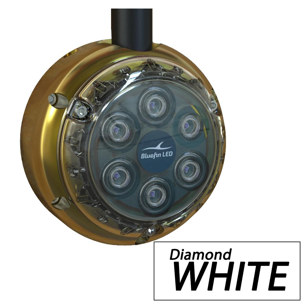 Bluefin LED Piranha DL6 Surface Mount Underwater LED Dock Light - 2500 Lumens - Diamond White - DL6-SM-W108