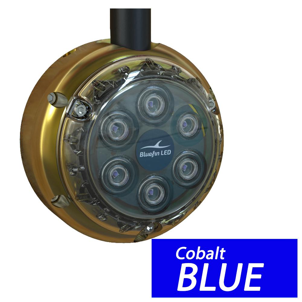 Bluefin LED Piranha DL6 Surface Mount Underwater LED Dock Light - 2500 Lumens - Cobalt Blue - DL6-SM-B109
