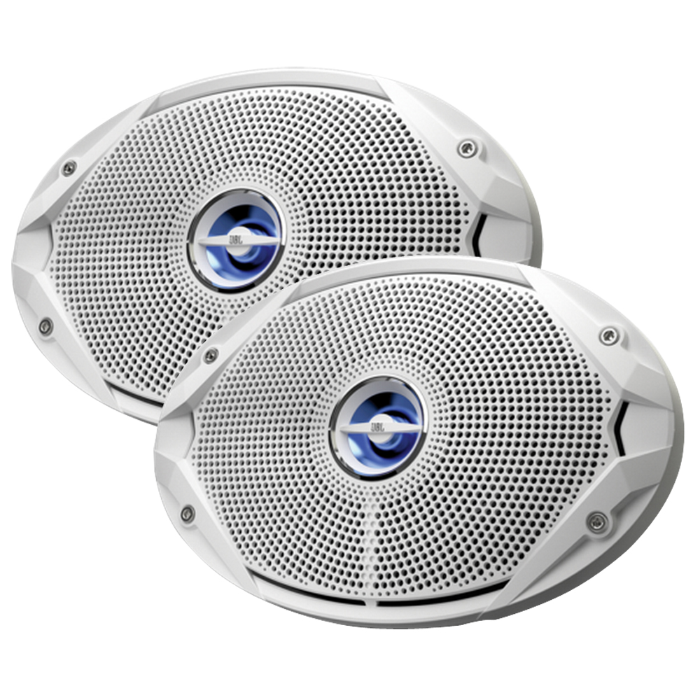 JBL MS9520 300W, 6 x 9 Coaxial Speakers - (Pair) White - MS9520