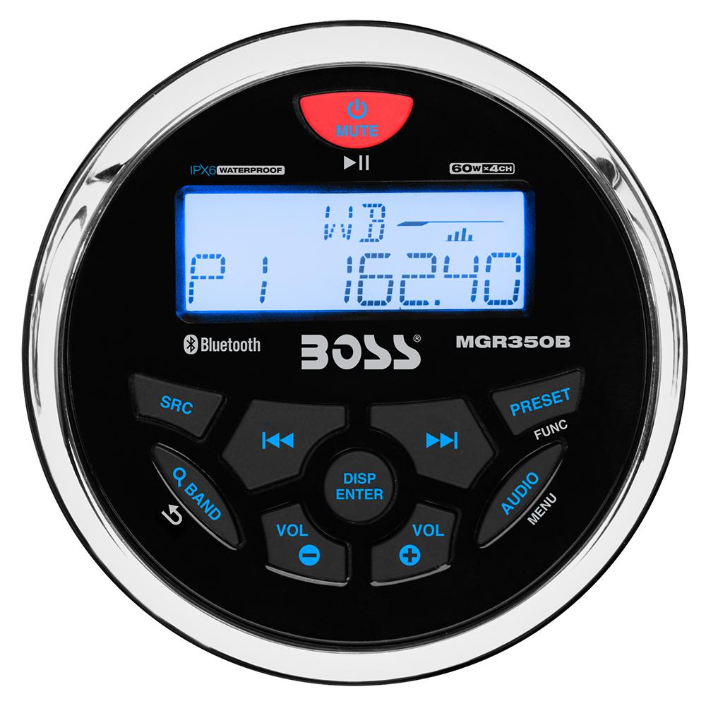 BOSS AUDIO MGR350B MARINE  GAUGE STYLE MP3/AM/FM/RDS