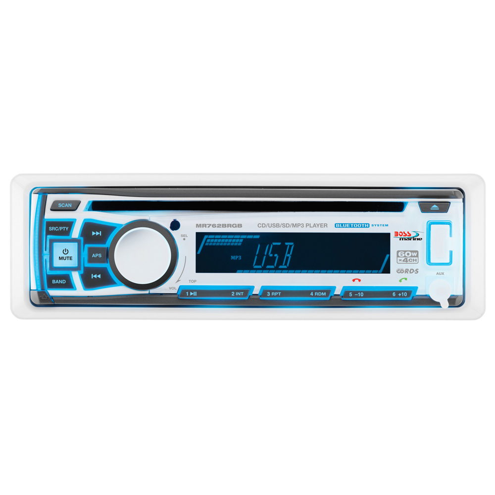 BOSS AUDIO MR762BRGB SING. DIN BLUETOOTH MP3/CD/CDRW/AM/FM