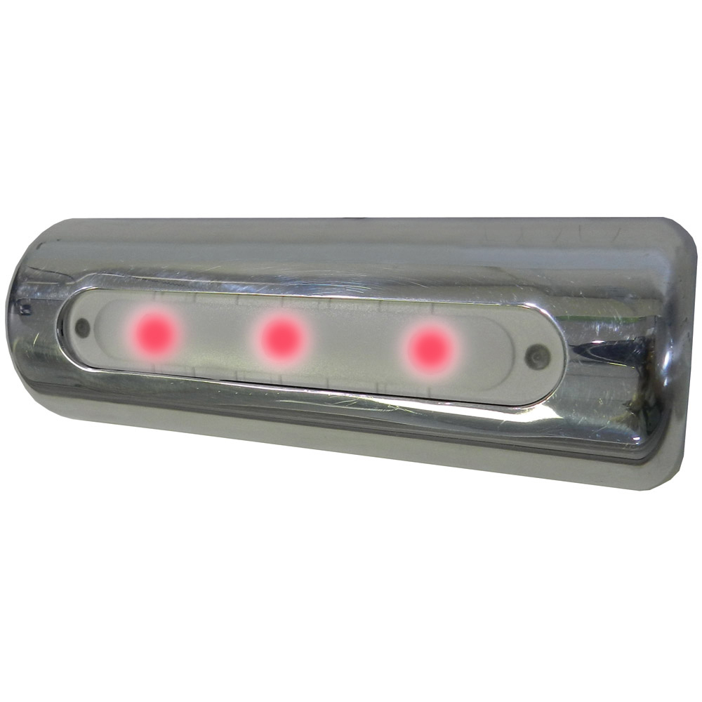 TACO LED Deck Light - Pipe Mount - Red LEDs - F38-8600BXZ-R-1