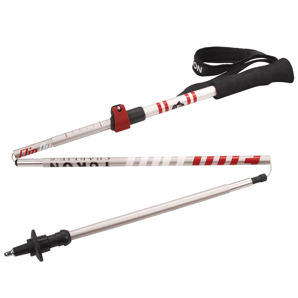 YUKON Flipout Trekking Poles - Aluminum - Red/Silver - 83-0108