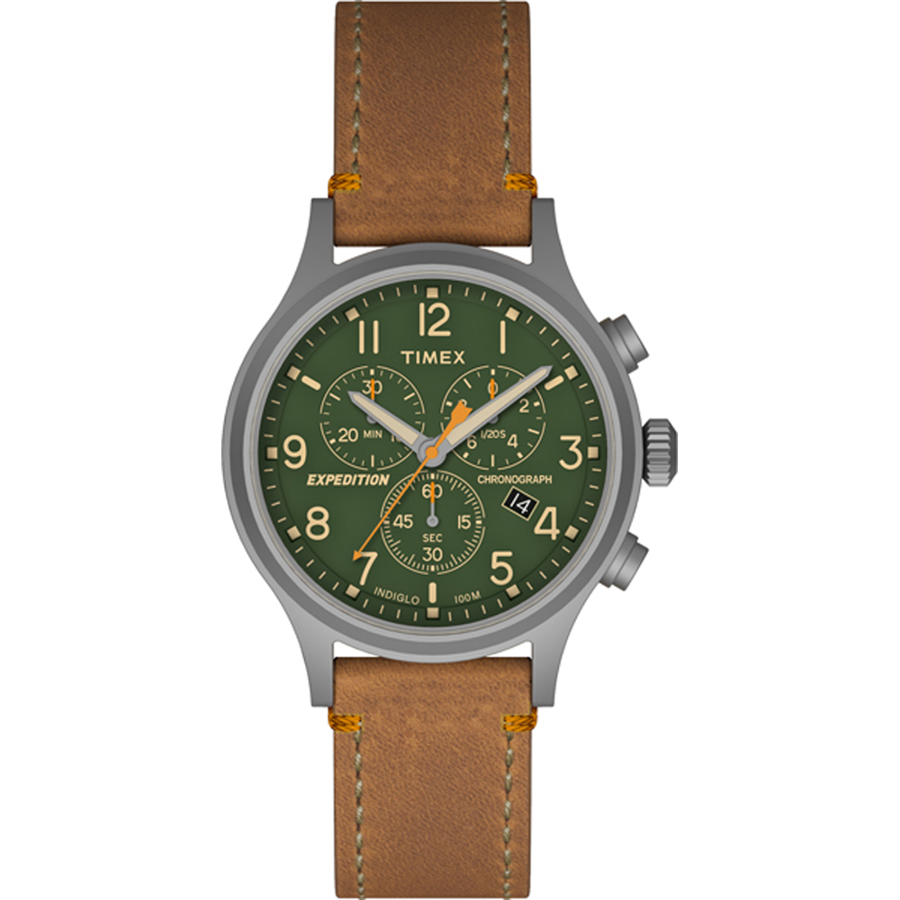 Timex Expedition Scout Chrono Watch - Tan/Green - TW4B044009J