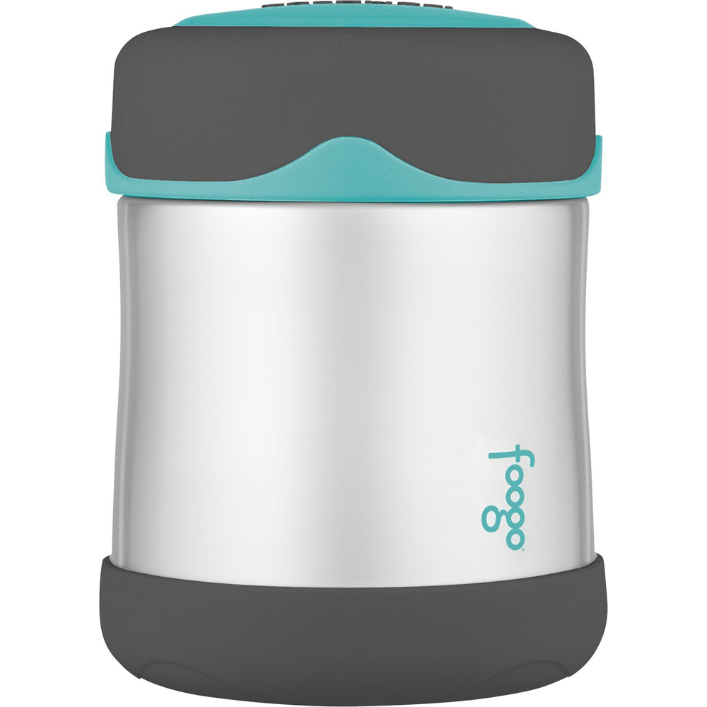 Thermos Foogo Stainless Steel, Vacuum Insulated Food Jar - Teal/Smoke - 10 oz. - B3004TS2