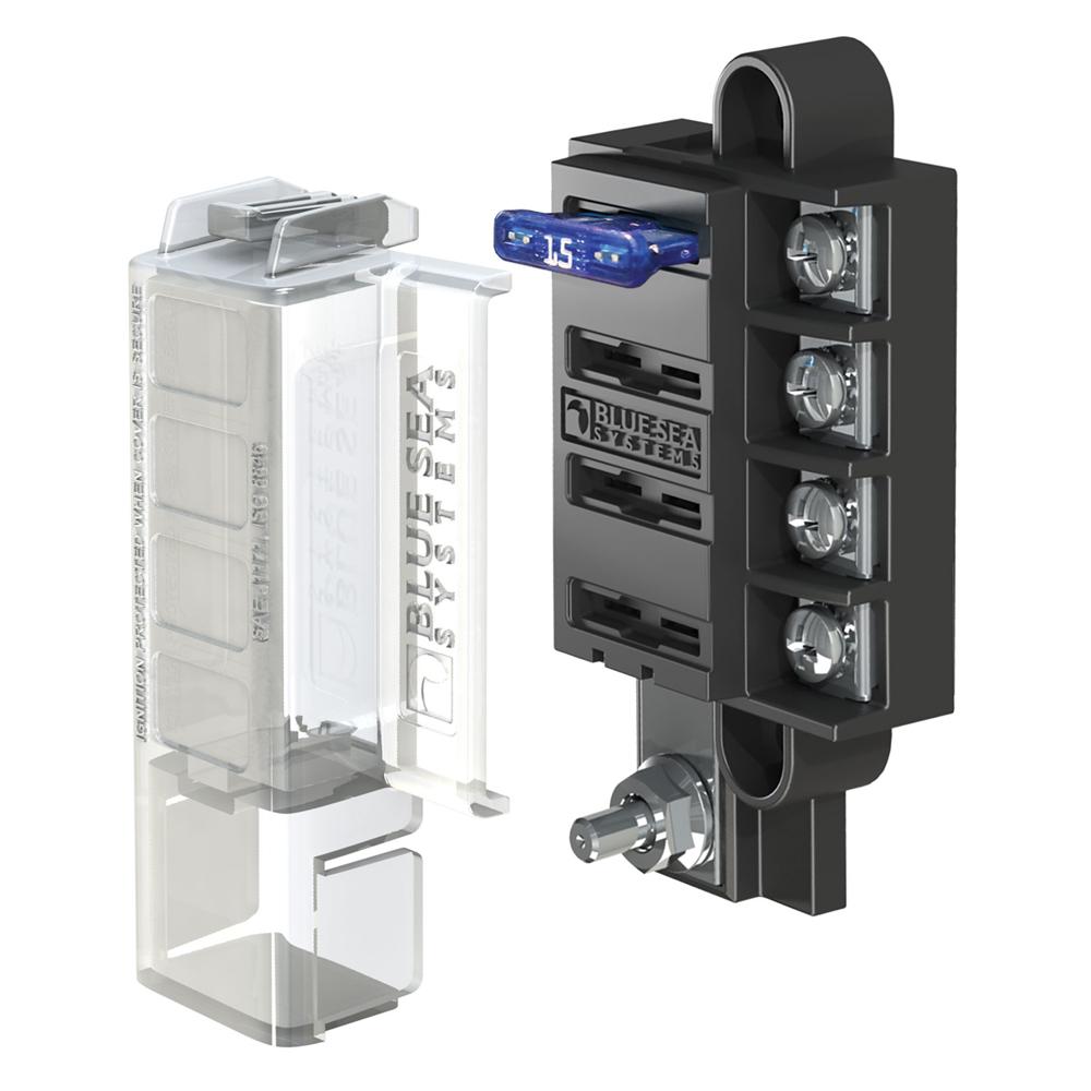 Blue Sea 400 ST Blade Compact Fuse Blocks   40 Circuits w/Cover   eBay