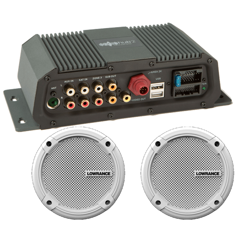 "Lowrance Sonichub Marine Audio Server w/6.5"" Speakers [000-12301-001]"