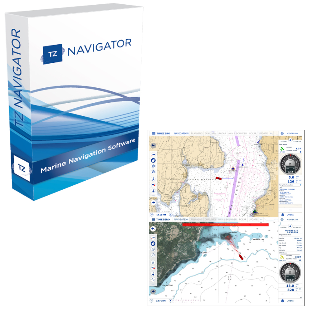 Nobeltec TZ Navigator Software - Digital Download - TZ-100