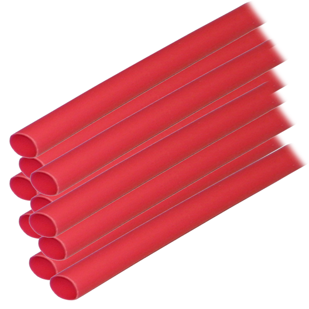 """Ancor Adhesive Lined Heat Shrink Tubing (ALT) - 1/4"""" x 12"""" - 10-Pack - Red CD-60053"""