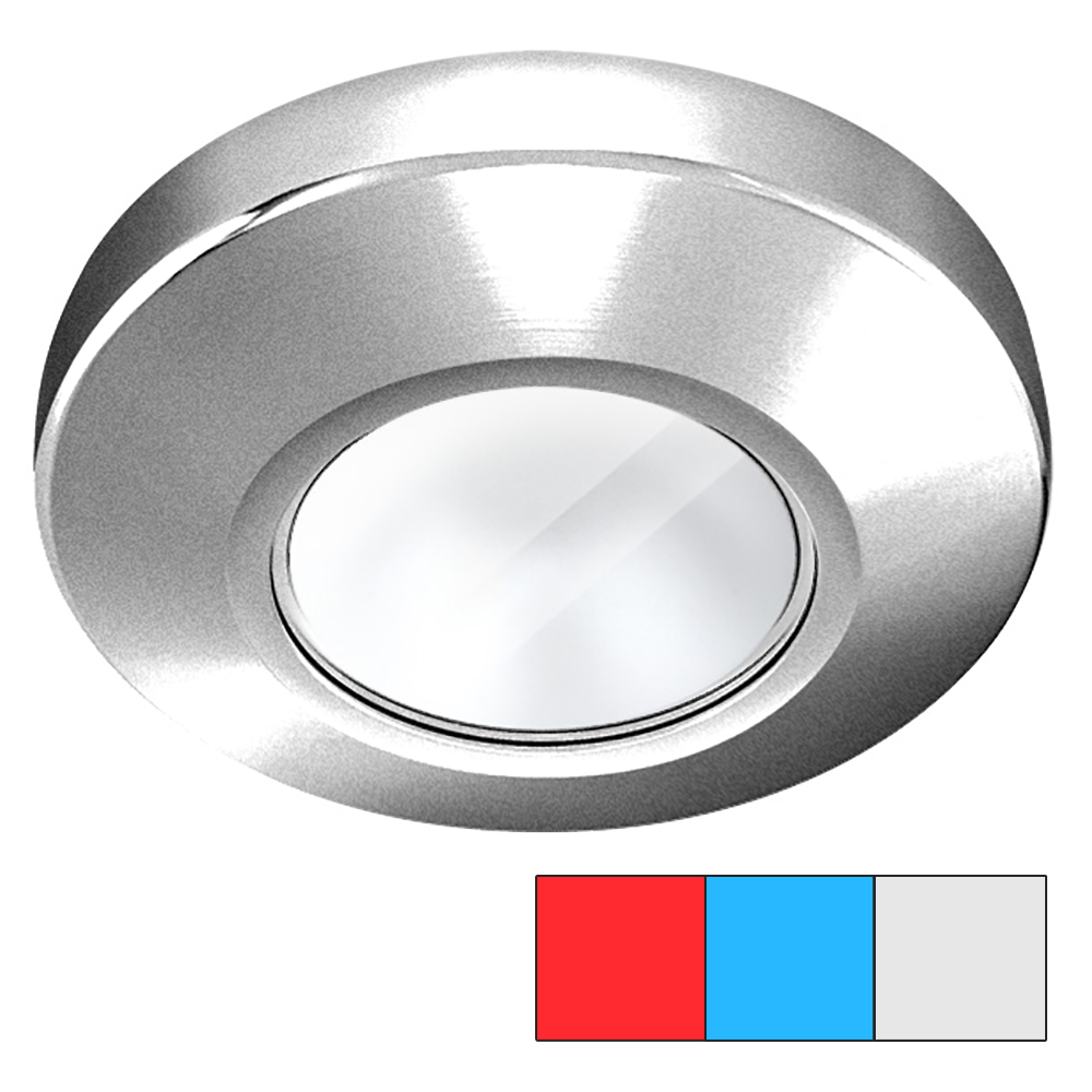 i2Systems Profile P1120 Tri-Light Surface Light - Red, White & Blue - Brushed Nickel Finish - P1120Z-41HAE