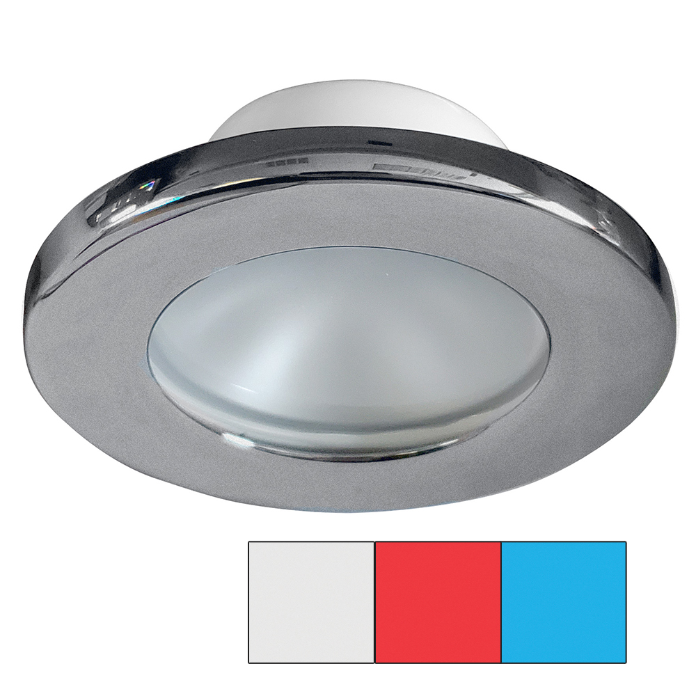i2Systems Apeiron A3120 Screw Mount Light - Red, Cool White & Blue - Brushed Nickel Finish - A3120Z-41HAE