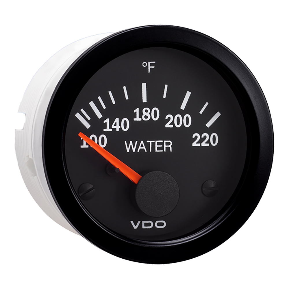 Vdo Vision Black 220f Water Temperature Gauge Use With Us 310 104 Sea Pro Wiring Diagram Fuel 220 Degreef