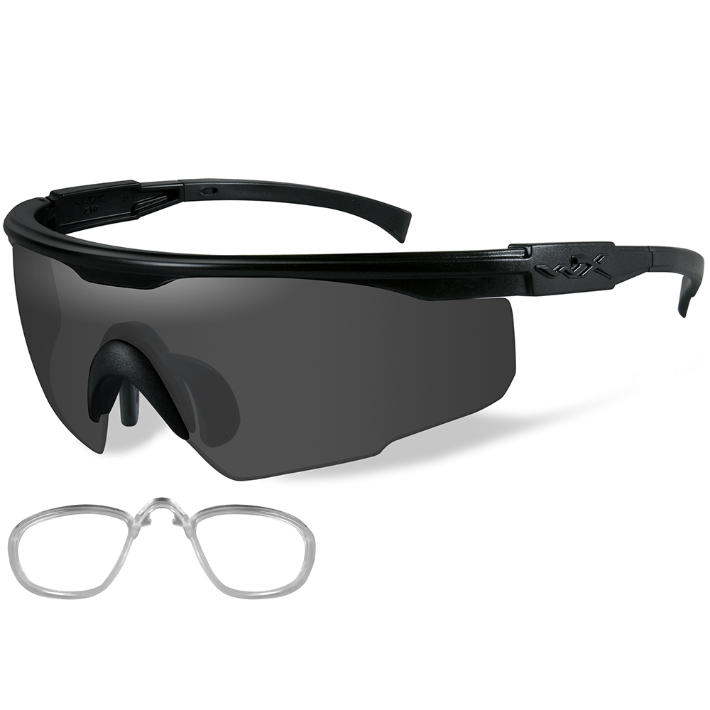 Wiley X PT-1 Sunglasses - Smoke Grey Lens - Matte Black Frame with Rx Insert - PT-1SRX