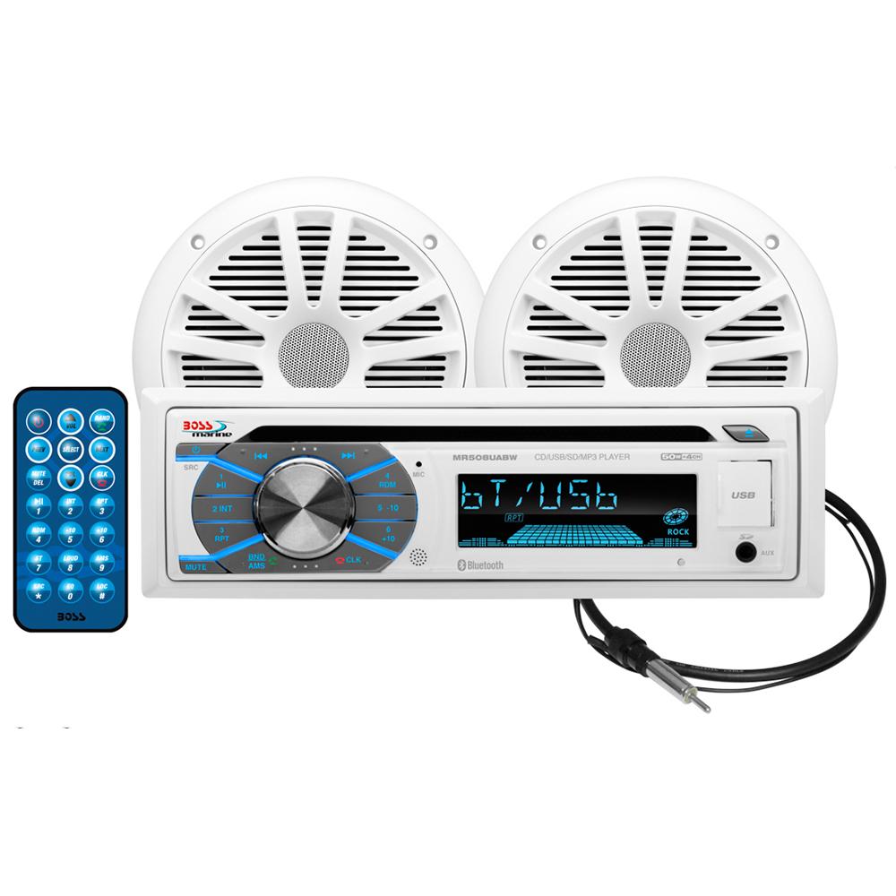 BOSS AUDIO MCK508WB.6 PACKAGE W/ MR508UABW, PAIR MRW6