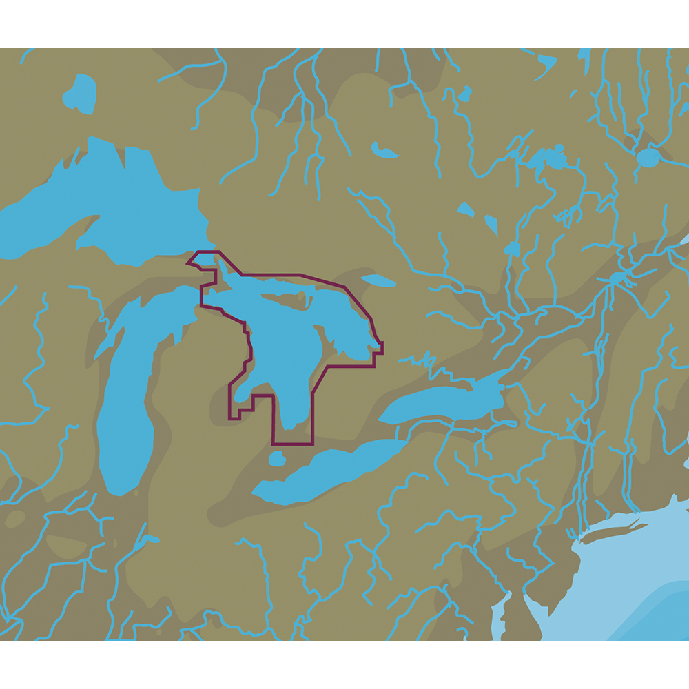 C-MAP NT+ NA-C107 Lake Huron, Georgian Bay & North Channel - C-Card Format - NA-C107C-CARD