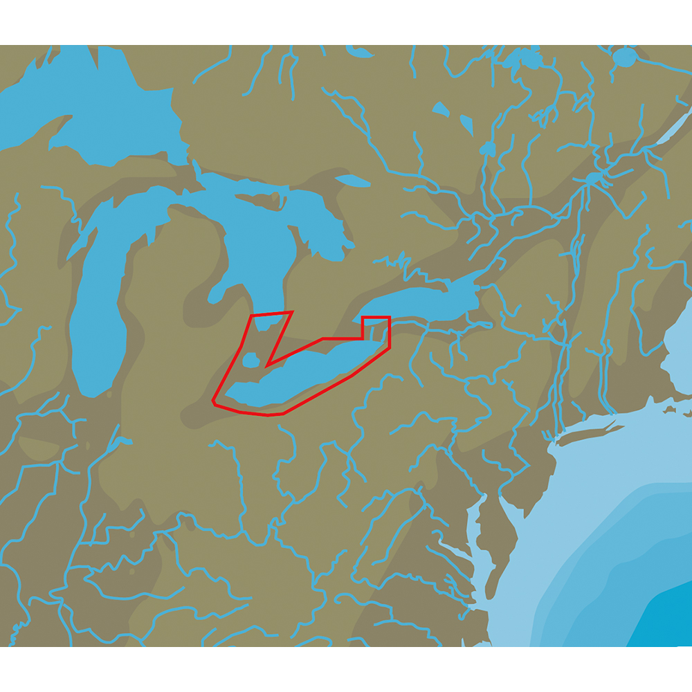 C-MAP NT+ NA-C112 Lake Erie & Lake St Clair - C-Card Format - NA-C112C-CARD
