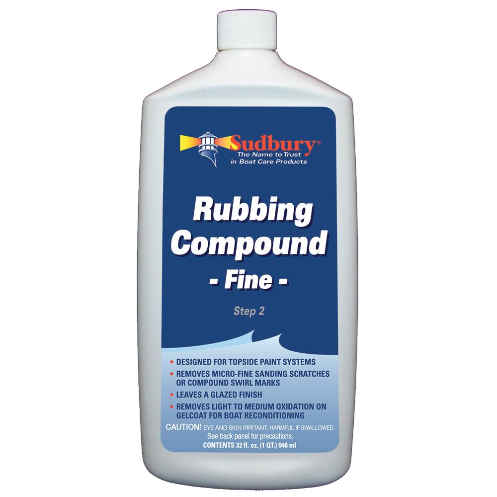 Sudbury Rubbing Compund Fine - Step 2 - 32oz Fluid - 442