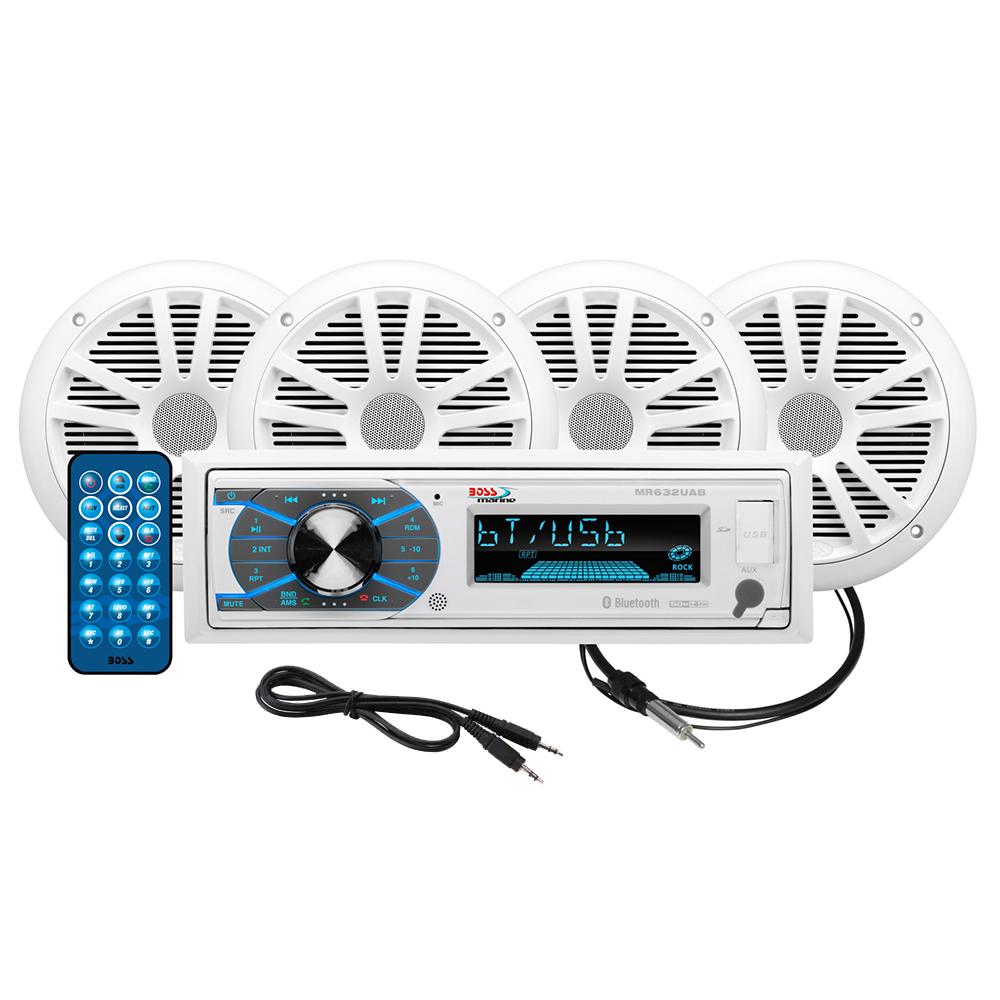 BOSS AUDIO MCK632WB.64 PACKAGE W/ MR632UAB 4 MR6W SPEAKERS
