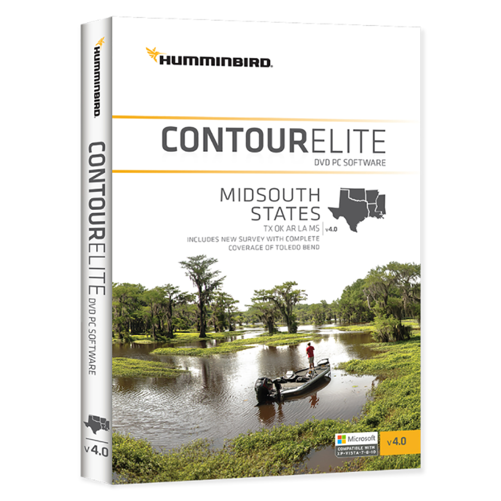 Humminbird Contour Elite MidSouth States 2018 - Version 4 - 600010-4
