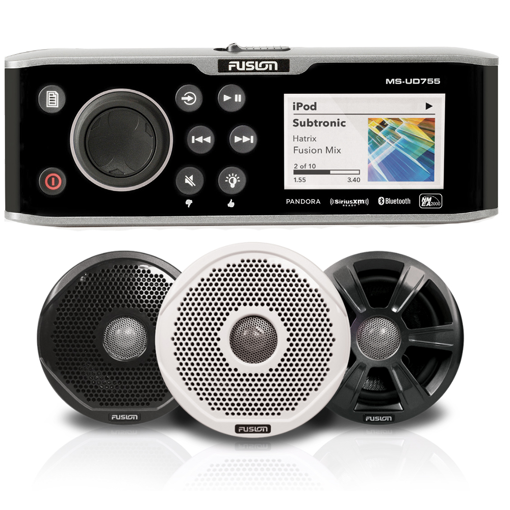 FUSION UD755 BUNDLE WITH 6022 SPEAKERS 6