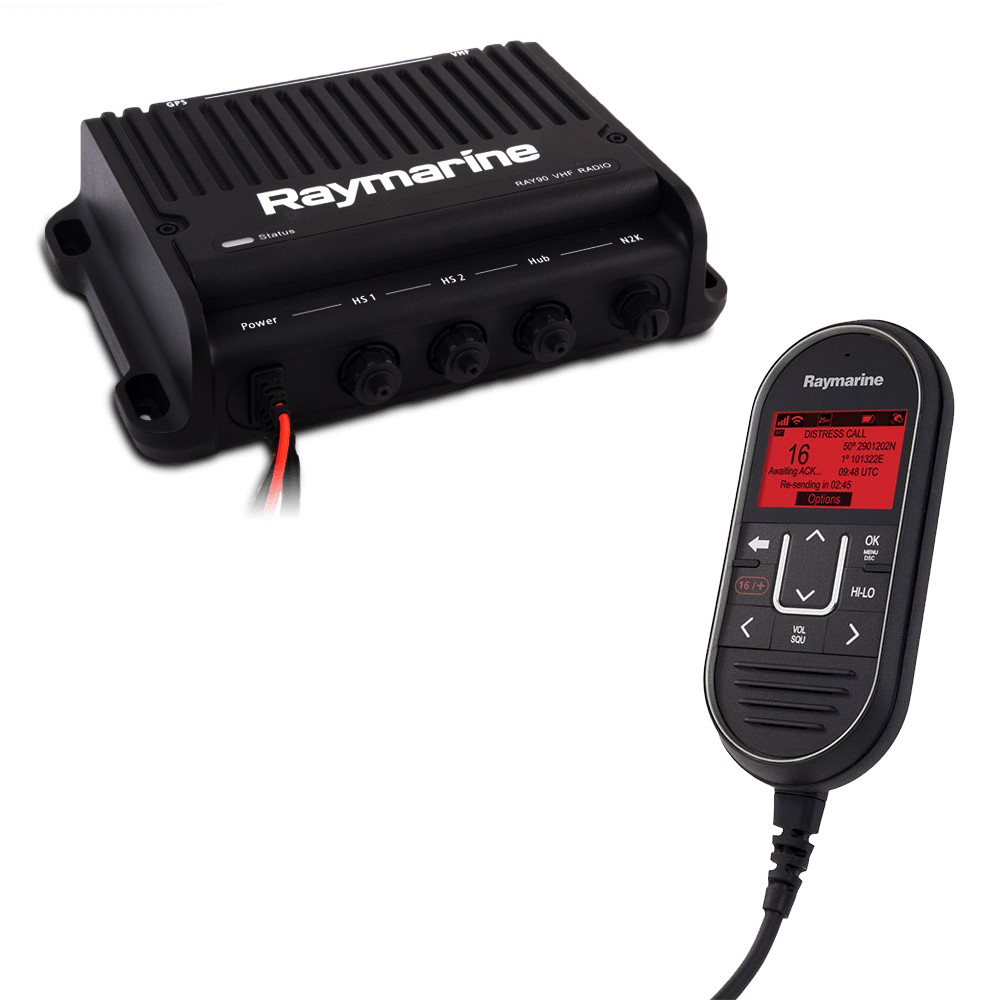 Raymarine Ray91 Modular Dual-Station VHF Black Box Radio System with AIS - E70493