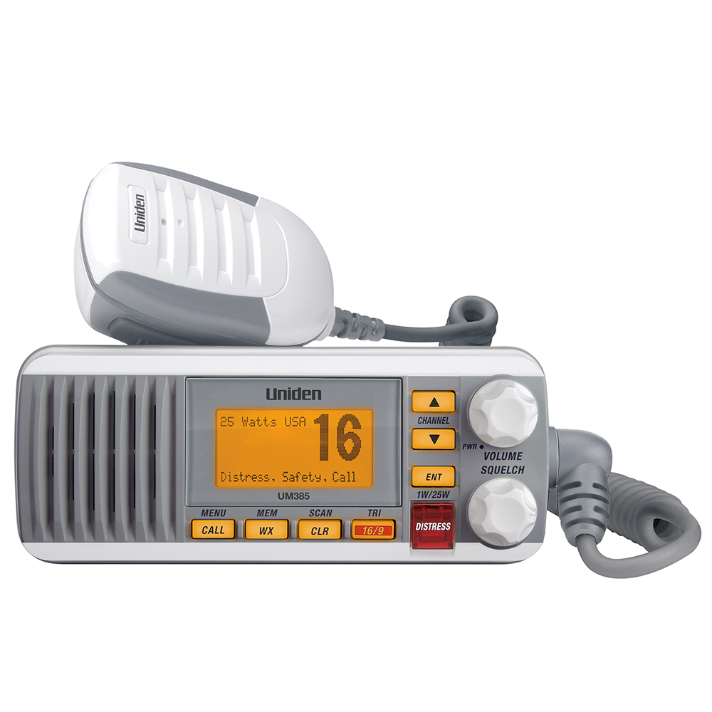 UNIDEN UM385 FIXED MOUNT VHF RADIO WHITE