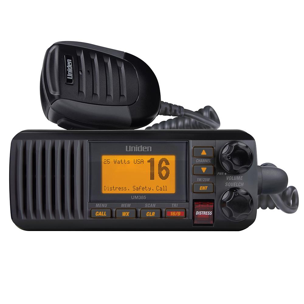 UNIDEN UM385 FIXED MOUNT VHF RADIO BLACK